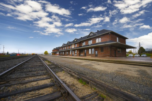 Cochrane train tracks, know for the polar bear express!