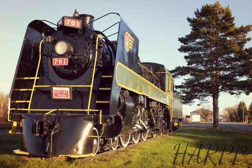 The last steam locomotive on display in Englehart