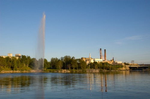 View of the Tembec factory from the Kapuskasing river