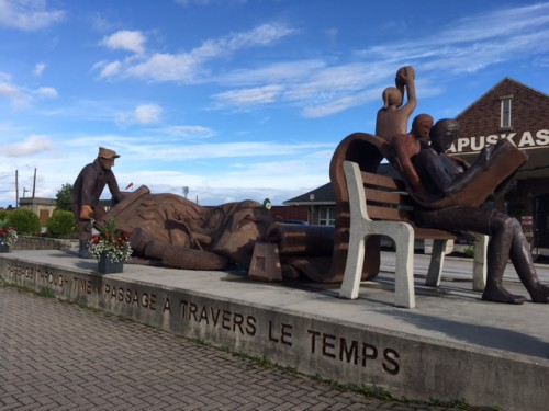 Statue outside the Kapuskasing welcome centre