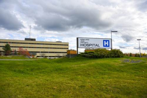 Photograph of the Kirkland Lake hospital