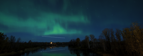 Northern Lights over body of water