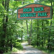 Sign above nature trail introducing High Rock Lookout Park