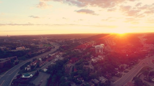 Sunset over Greater Sudbury