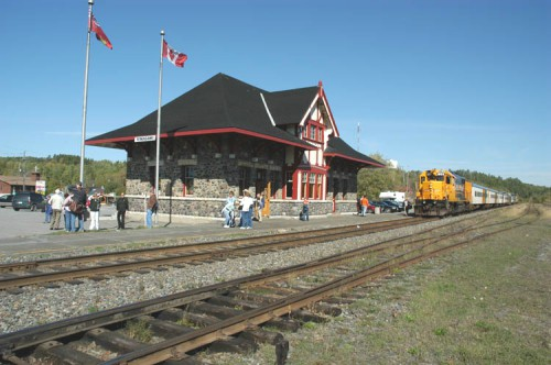 Train station in Temagami