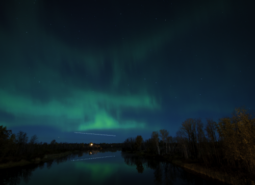 Northern Lights above the water